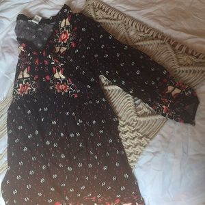 BOGO Forever 21 black and red patterned boho dress